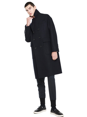 Liner Double Coat - Dark Navy