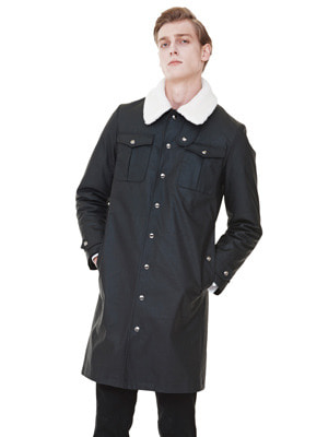 Rider Waxing Coat - Black