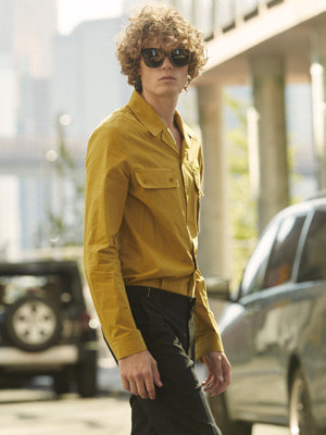 Pajama Collar Shirts - Yellow