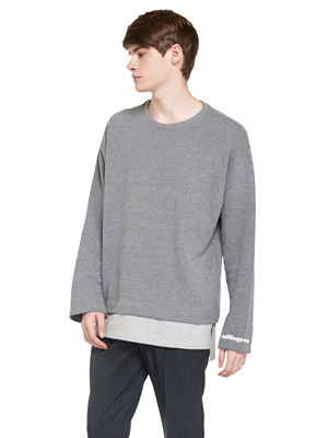 Layered Trickle Sweatshirts - Dark Gray