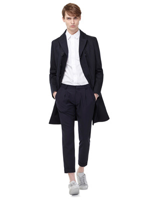 Turn Up Banding Slacks - Navy