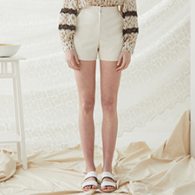 Stripe Shorts - Ivory