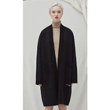 Filer Long Cardigan - black
