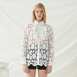Floral Lace Blouse - Ivory