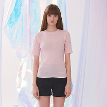 Voet Round Neck Knit - Pink