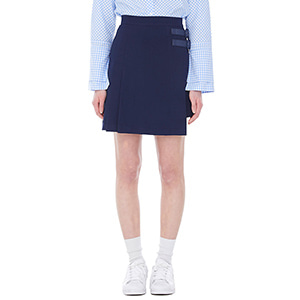double belt miniskirt - navy