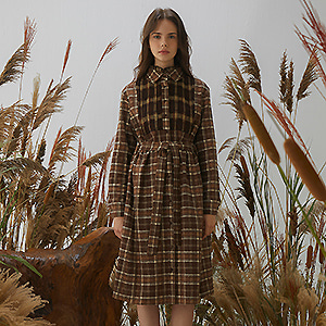 Eazel Check Dress - Brown