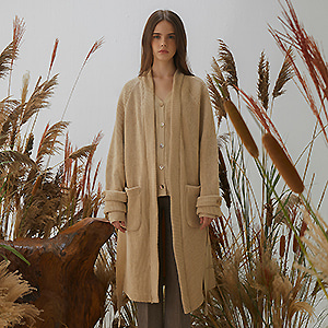 [한소희 착용]Trench Cardigan - Beige
