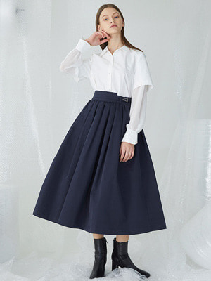 Flounts Belt Skirt - Navy