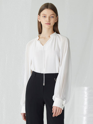 Abacus Blouse - White