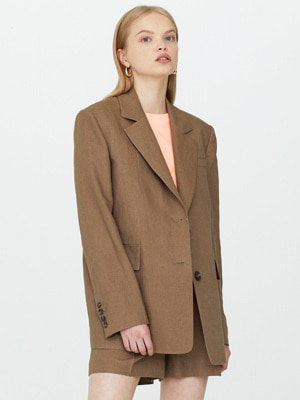 Mocco Linen Blazer - Brown