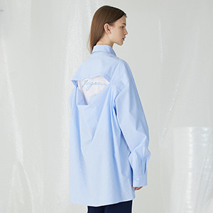 Wttf Oversized Shirts - Sky Blue